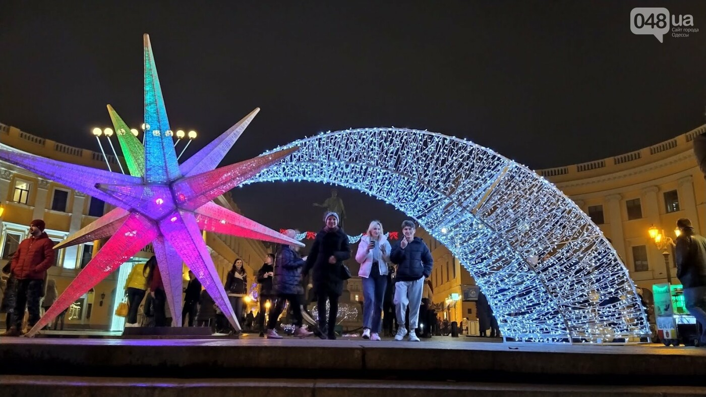 Новогодние огни Потемкинской лестницы и Стамбульского парка в Одессе, - ФОТОРЕПОРТАЖ, фото-1, ФОТО: Александр Жирносенко