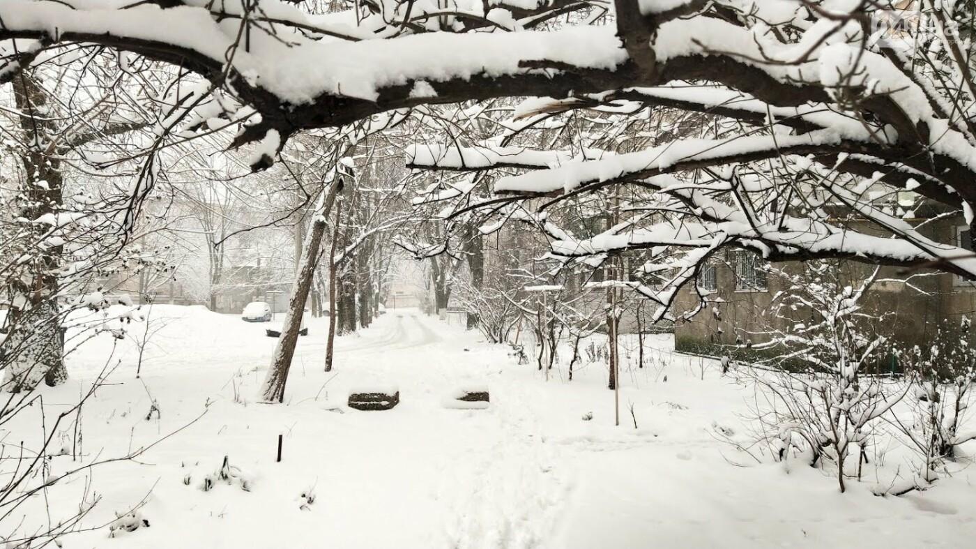 Одессу накрыло снегом: 20 кадров с заснеженных улиц города, - ФОТОРЕПОРТАЖ, фото-4, ФОТО: Александр Жирносенко