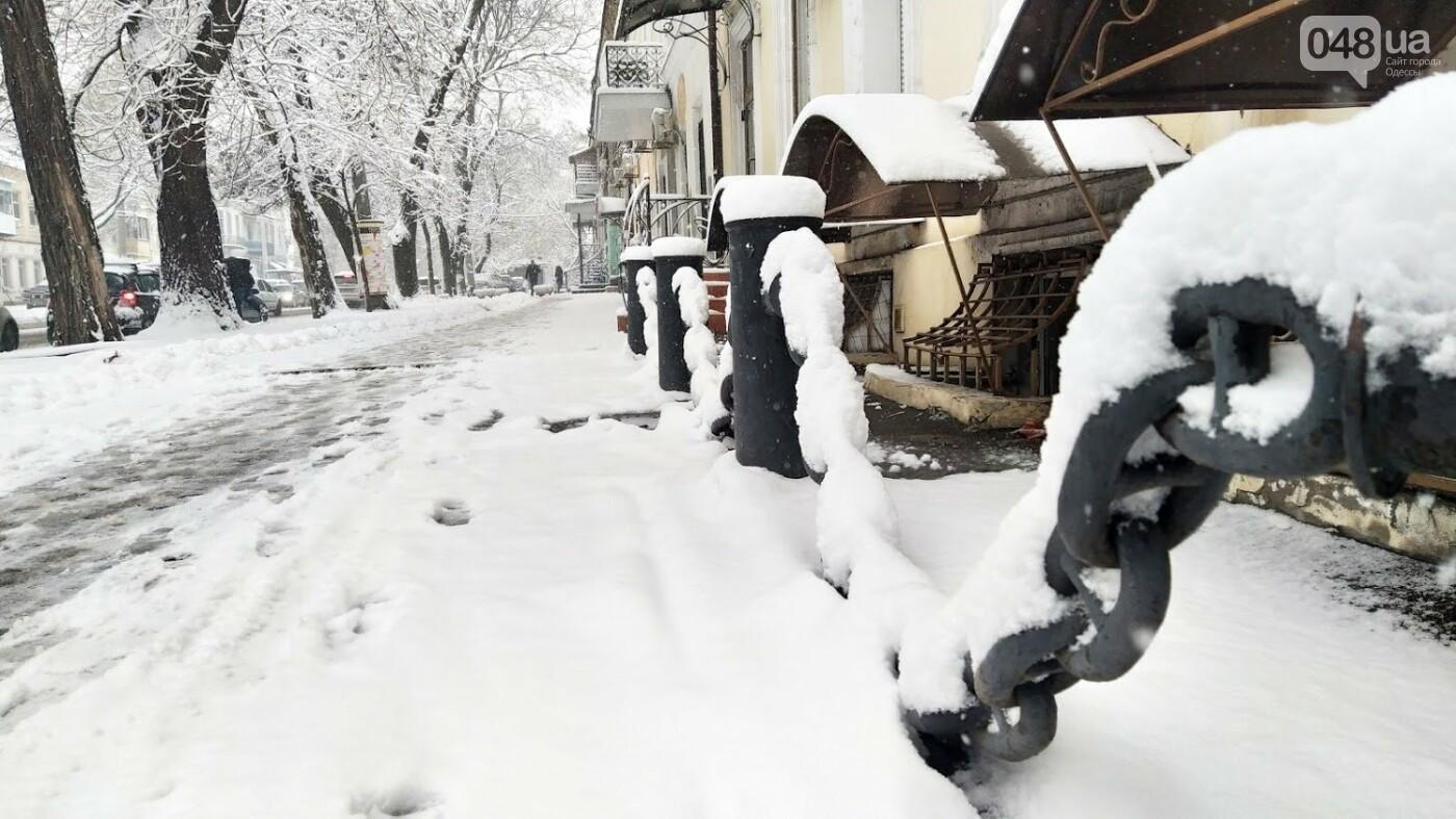 Одессу накрыло снегом: 20 кадров с заснеженных улиц города, - ФОТОРЕПОРТАЖ, фото-16, ФОТО: Александр Жирносенко