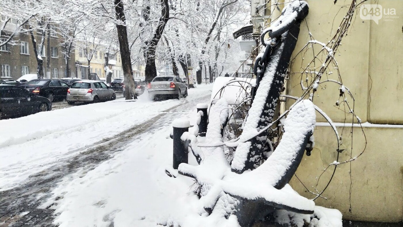 Одессу накрыло снегом: 20 кадров с заснеженных улиц города, - ФОТОРЕПОРТАЖ, фото-17, ФОТО: Александр Жирносенко