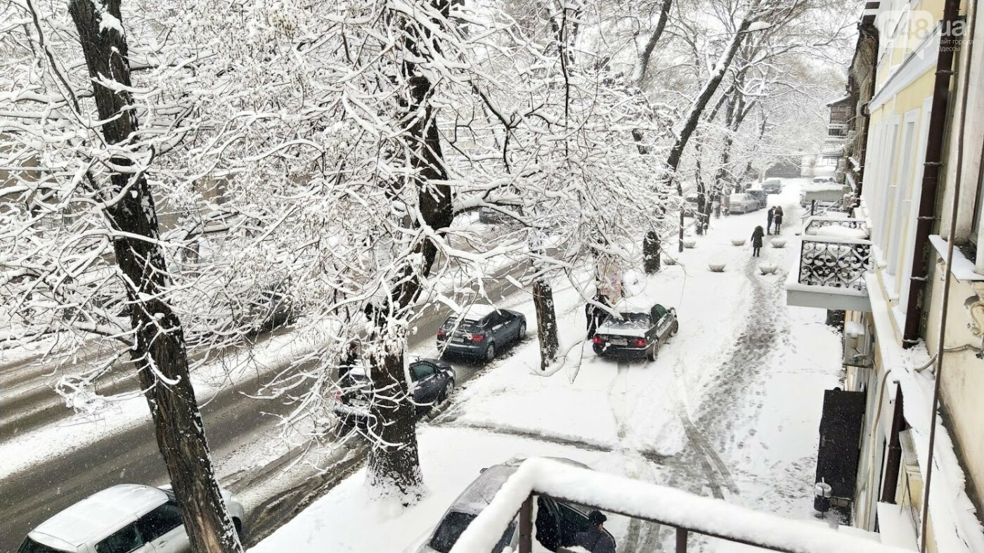 Одессу накрыло снегом: 20 кадров с заснеженных улиц города, - ФОТОРЕПОРТАЖ, фото-18, ФОТО: Александр Жирносенко