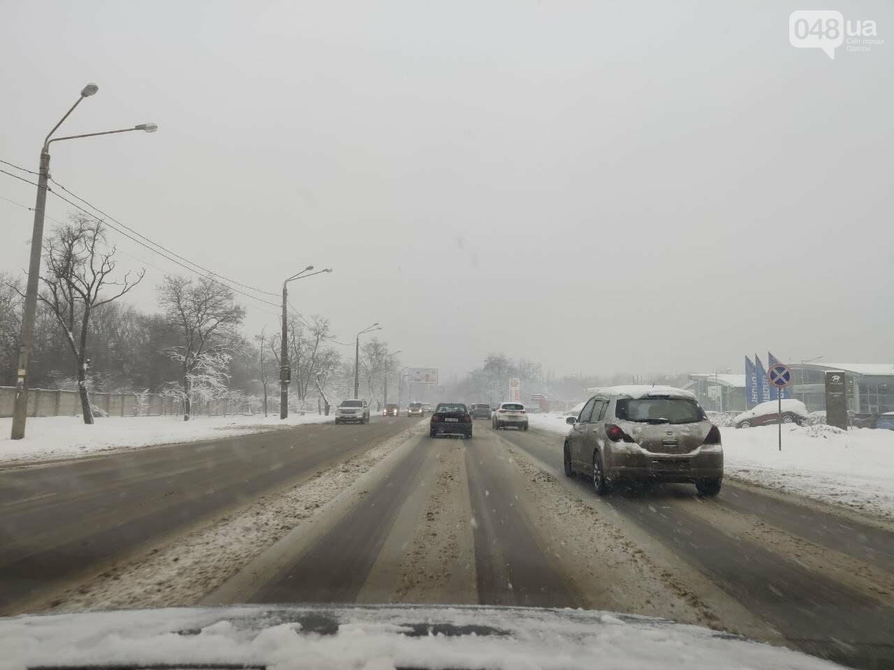 Одессу замело: ситуация на дорогах и тротуарах в городе, - ФОТО, фото-8