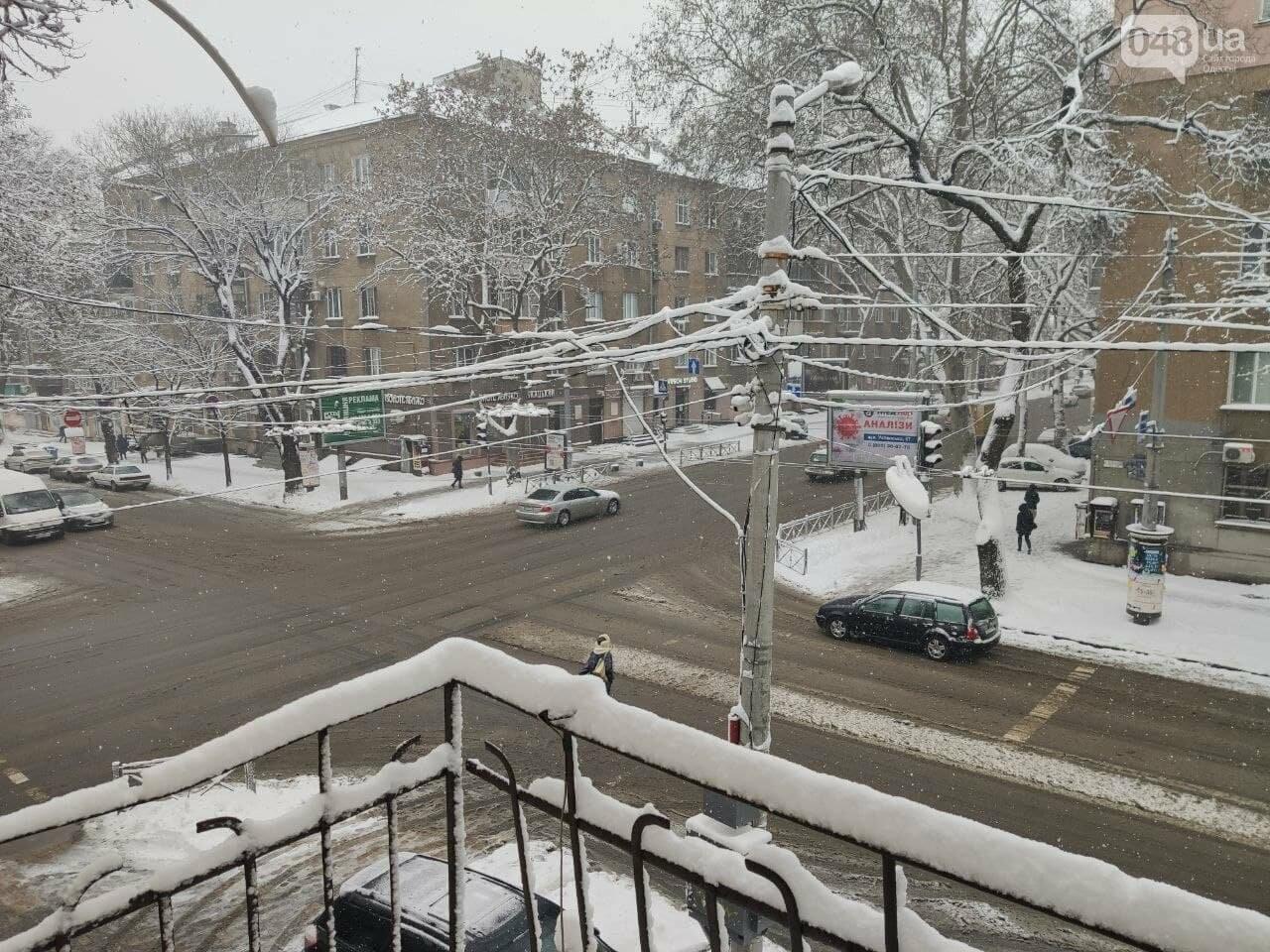 Одессу замело: ситуация на дорогах и тротуарах в городе, - ФОТО, фото-2