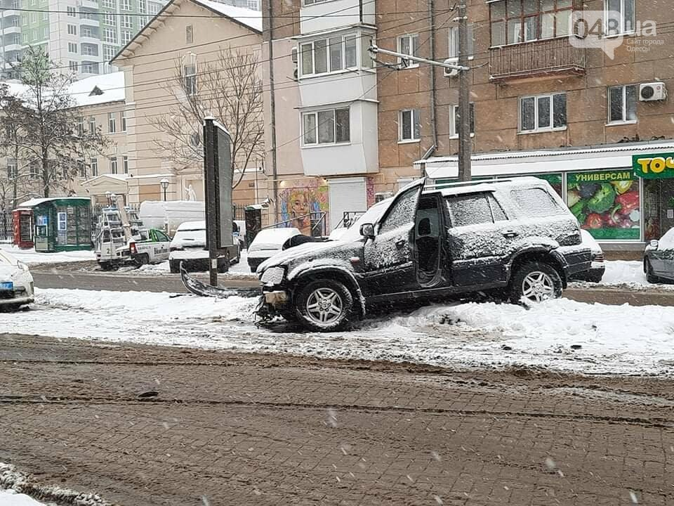 Одессу замело: ситуация на дорогах и тротуарах в городе, - ФОТО, фото-12
