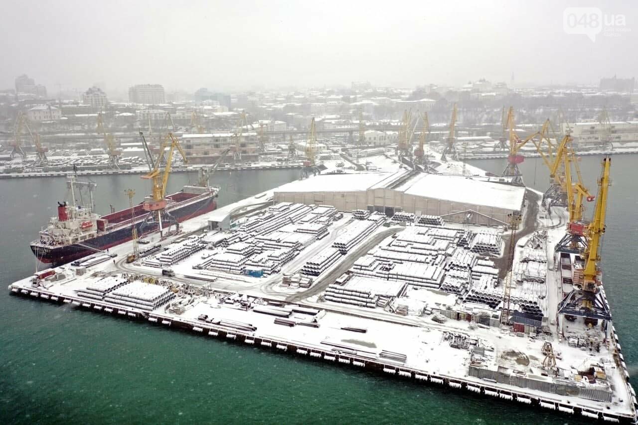 Как во время снегопада работал Одесский порт, - ФОТО, фото-14, ФОТО: АМПУ