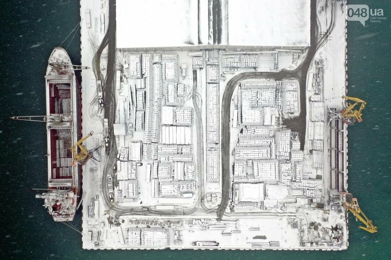 Как во время снегопада работал Одесский порт, - ФОТО, фото-15, ФОТО: АМПУ