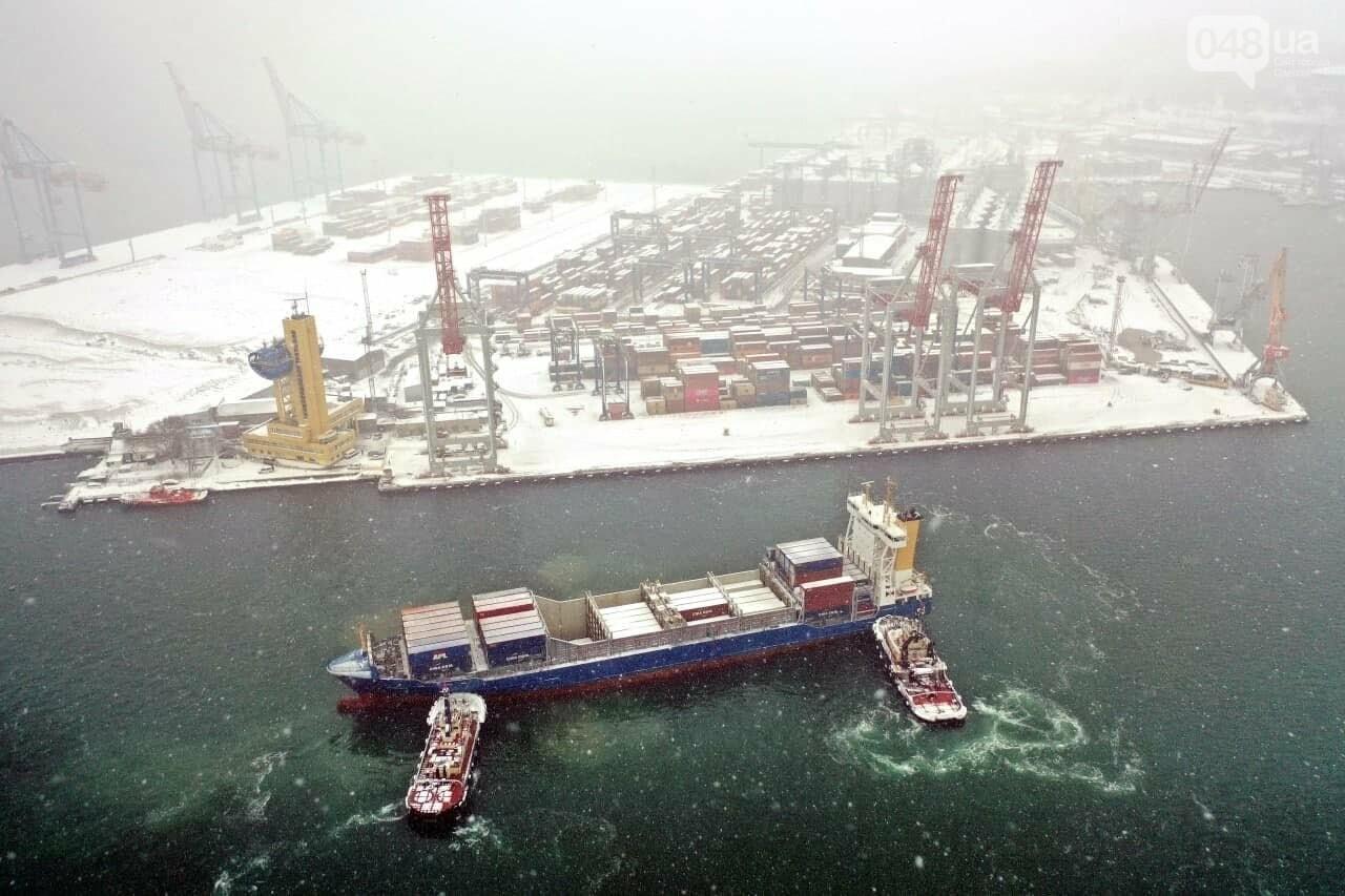 Как во время снегопада работал Одесский порт, - ФОТО, фото-18, ФОТО: АМПУ