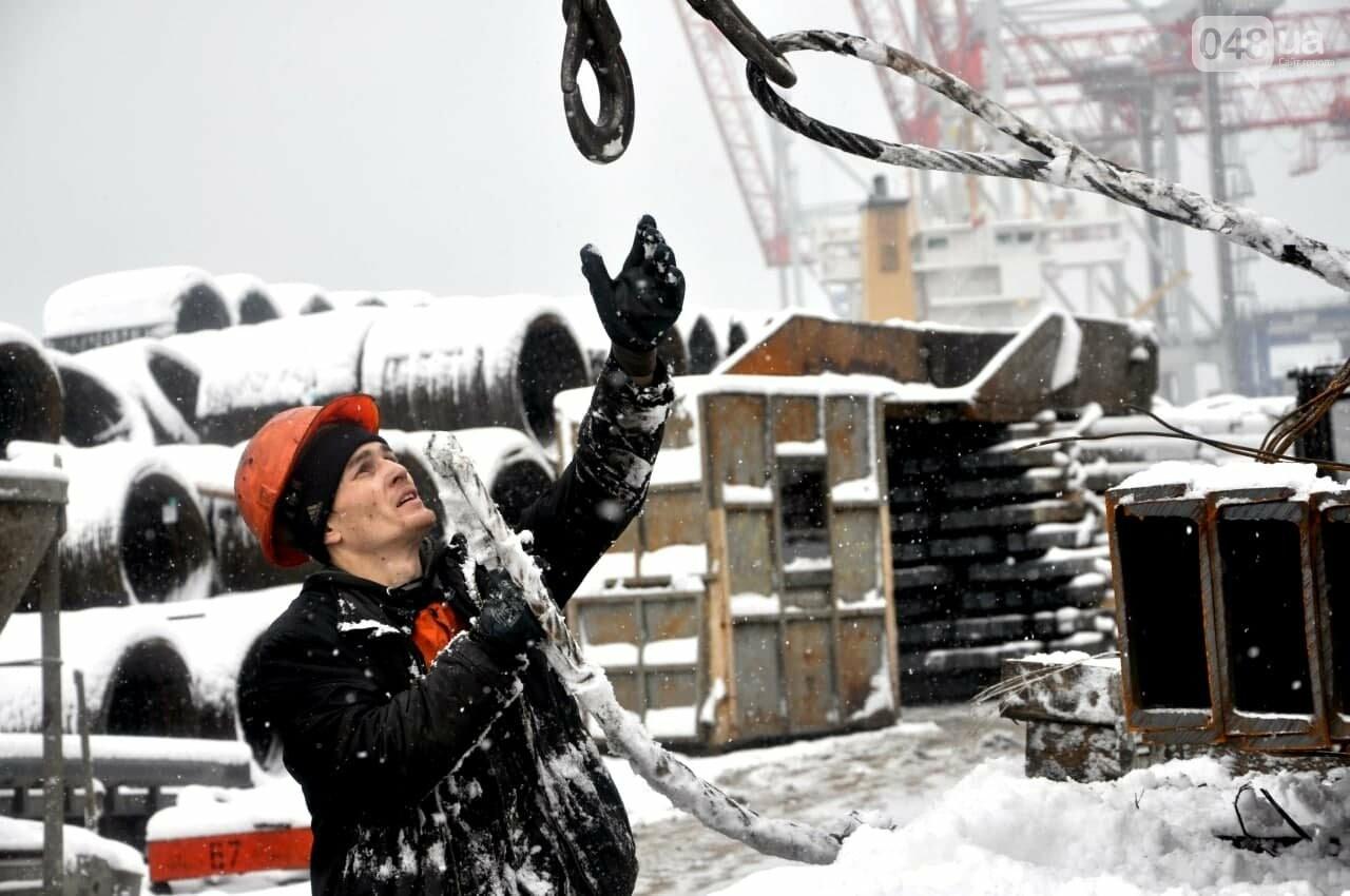Как во время снегопада работал Одесский порт, - ФОТО, фото-21, ФОТО: АМПУ