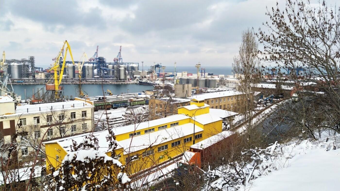 Как во время снегопада работал Одесский порт, - ФОТО, фото-2, ФОТО: Александр Жирносенко