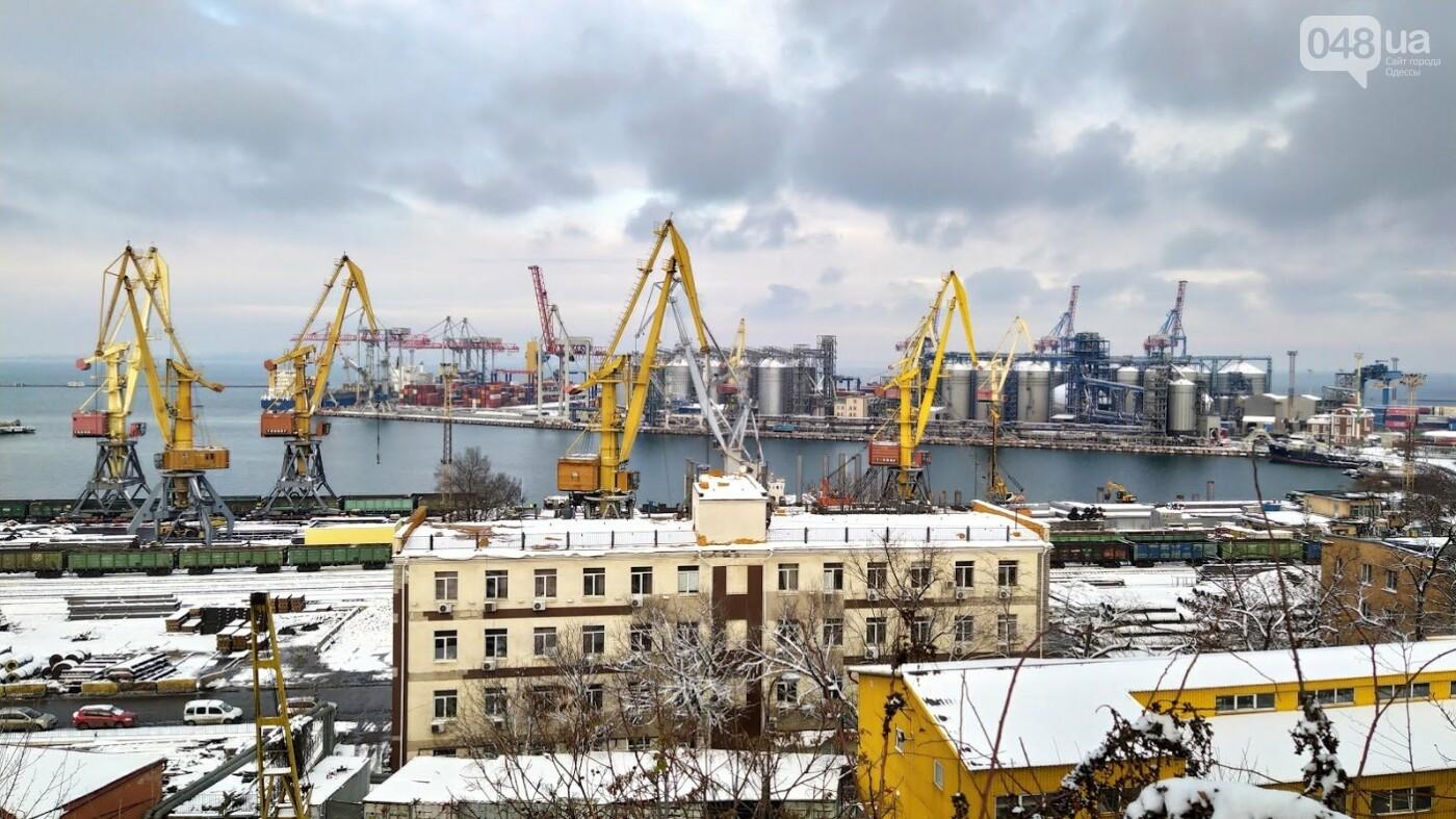 Как во время снегопада работал Одесский порт, - ФОТО, фото-6, ФОТО: Александр Жирносенко