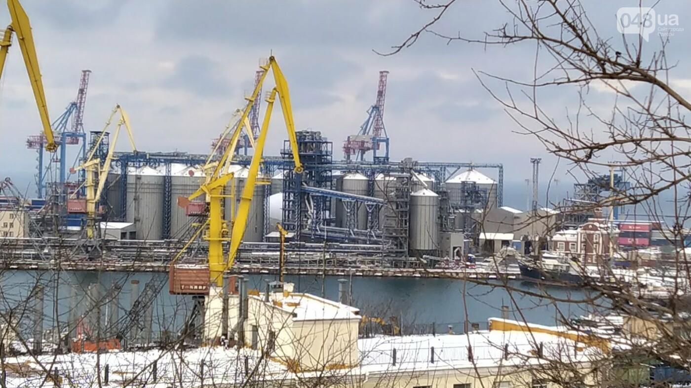 Как во время снегопада работал Одесский порт, - ФОТО, фото-7, ФОТО: Александр Жирносенко