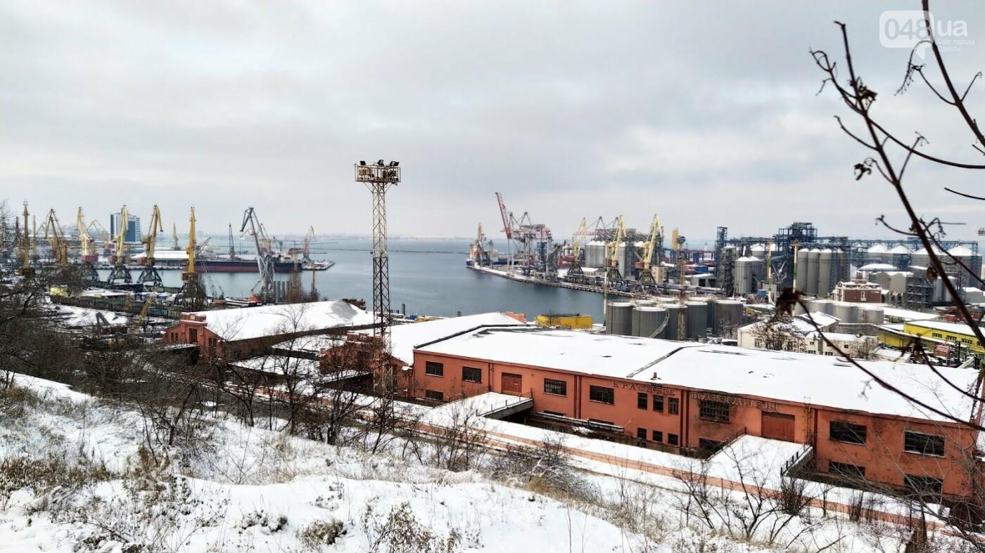 Как во время снегопада работал Одесский порт, - ФОТО, фото-8, ФОТО: Александр Жирносенко