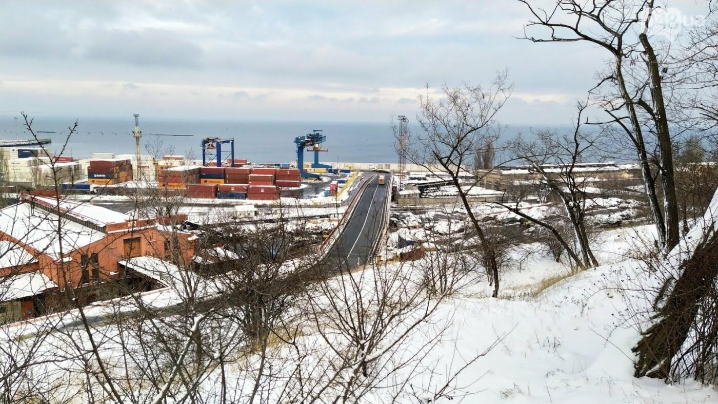 Как во время снегопада работал Одесский порт, - ФОТО, фото-9, ФОТО: Александр Жирносенко