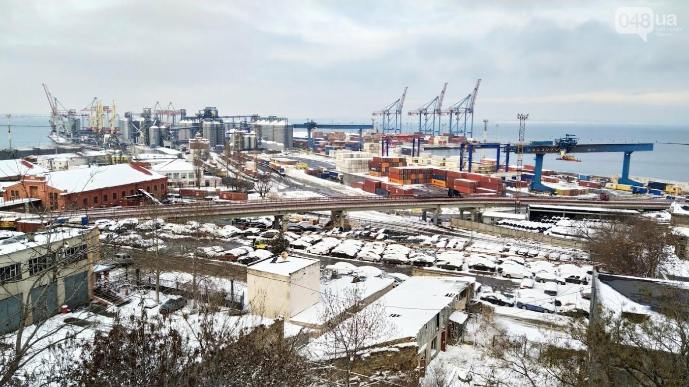 Как во время снегопада работал Одесский порт, - ФОТО, фото-10, ФОТО: Александр Жирносенко