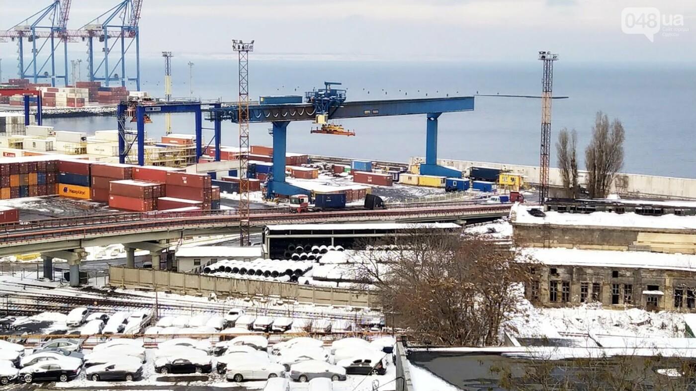 Как во время снегопада работал Одесский порт, - ФОТО, фото-11, ФОТО: Александр Жирносенко