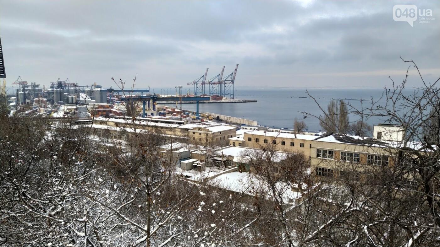 Как во время снегопада работал Одесский порт, - ФОТО, фото-13, ФОТО: Александр Жирносенко