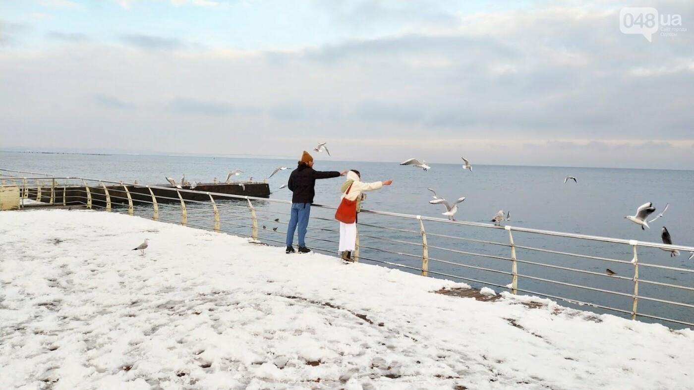 Белые пляжи и зимняя набережная: как одесское побережье замело снегом, - ФОТОРЕПОРТАЖ, фото-3, ФОТО: Александр Жирносенко