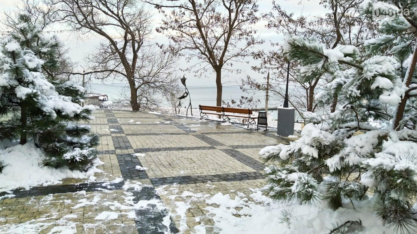 Белые пляжи и зимняя набережная: как одесское побережье замело снегом, - ФОТОРЕПОРТАЖ, фото-13, ФОТО: Александр Жирносенко