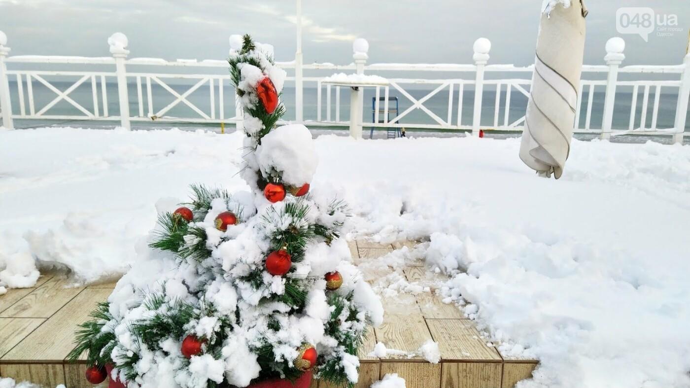 Белые пляжи и зимняя набережная: как одесское побережье замело снегом, - ФОТОРЕПОРТАЖ, фото-21, ФОТО: Александр Жирносенко