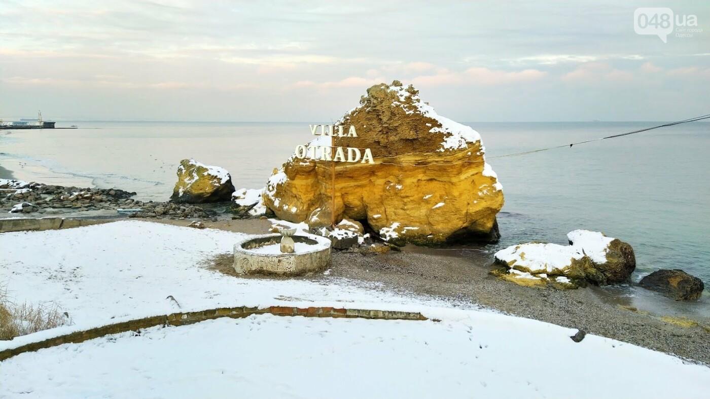 Белые пляжи и зимняя набережная: как одесское побережье замело снегом, - ФОТОРЕПОРТАЖ, фото-24, ФОТО: Александр Жирносенко