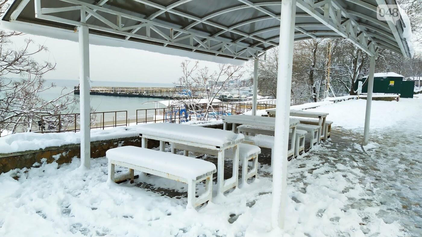 Белые пляжи и зимняя набережная: как одесское побережье замело снегом, - ФОТОРЕПОРТАЖ, фото-29, ФОТО: Александр Жирносенко