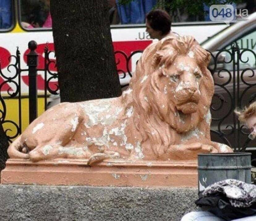 С Привокзального сквера в Одессе убрали скульптуры львов, фото-1