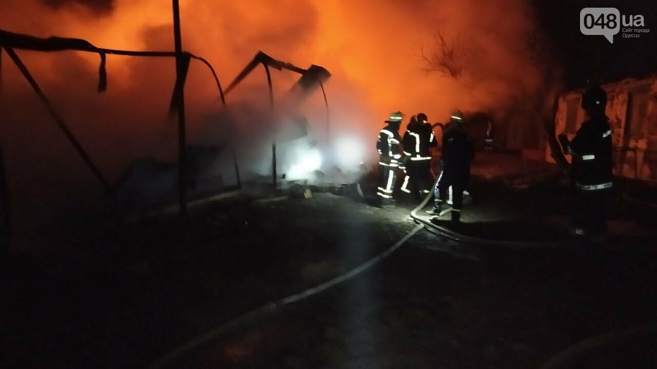 Пожар на базе отдыха в Одесской области.3