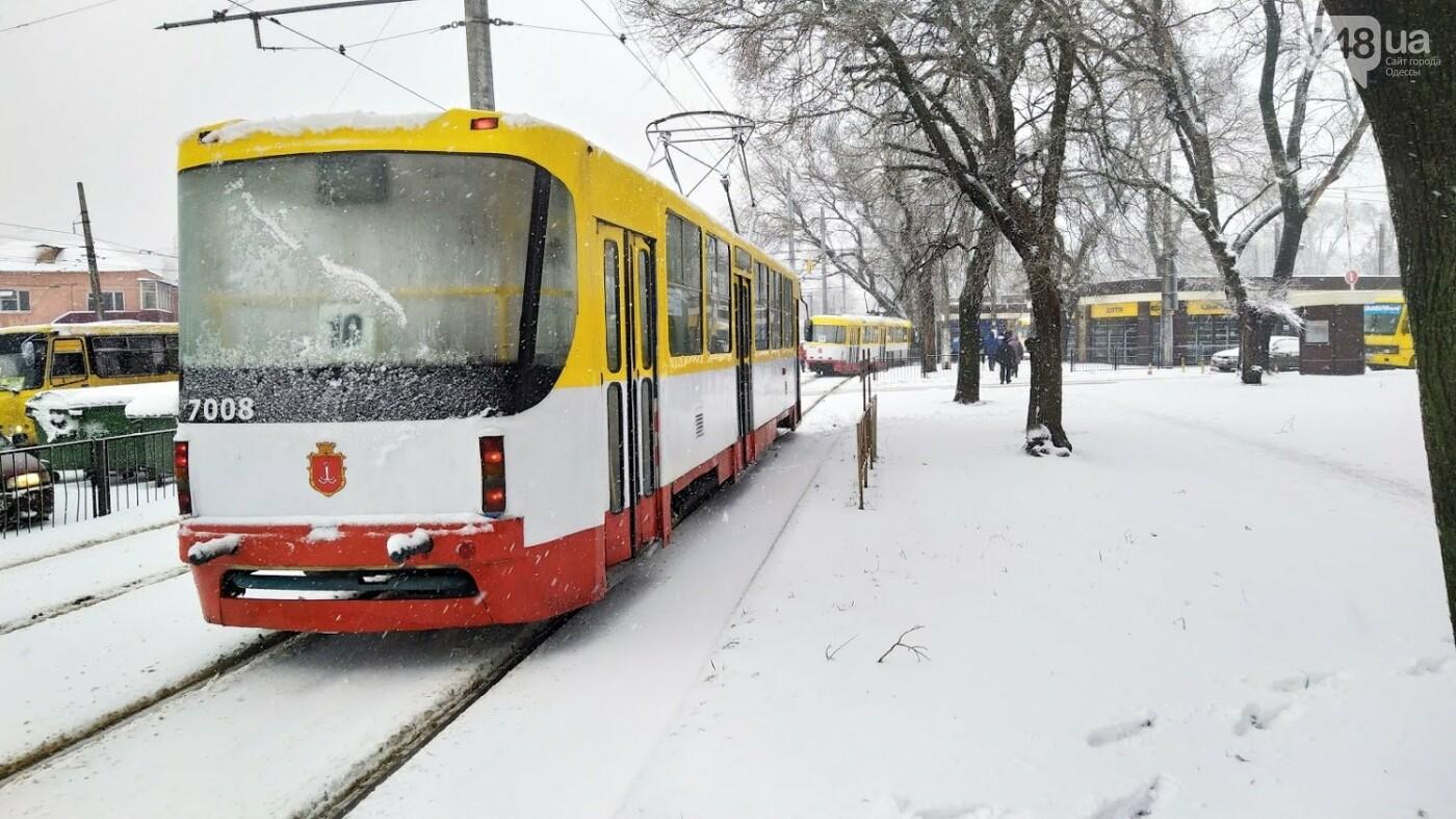 Снегопад в Одессе: как ходит общественный транспорт в городе, - ФОТО, фото-4, ФОТО: Александр Жирносенко