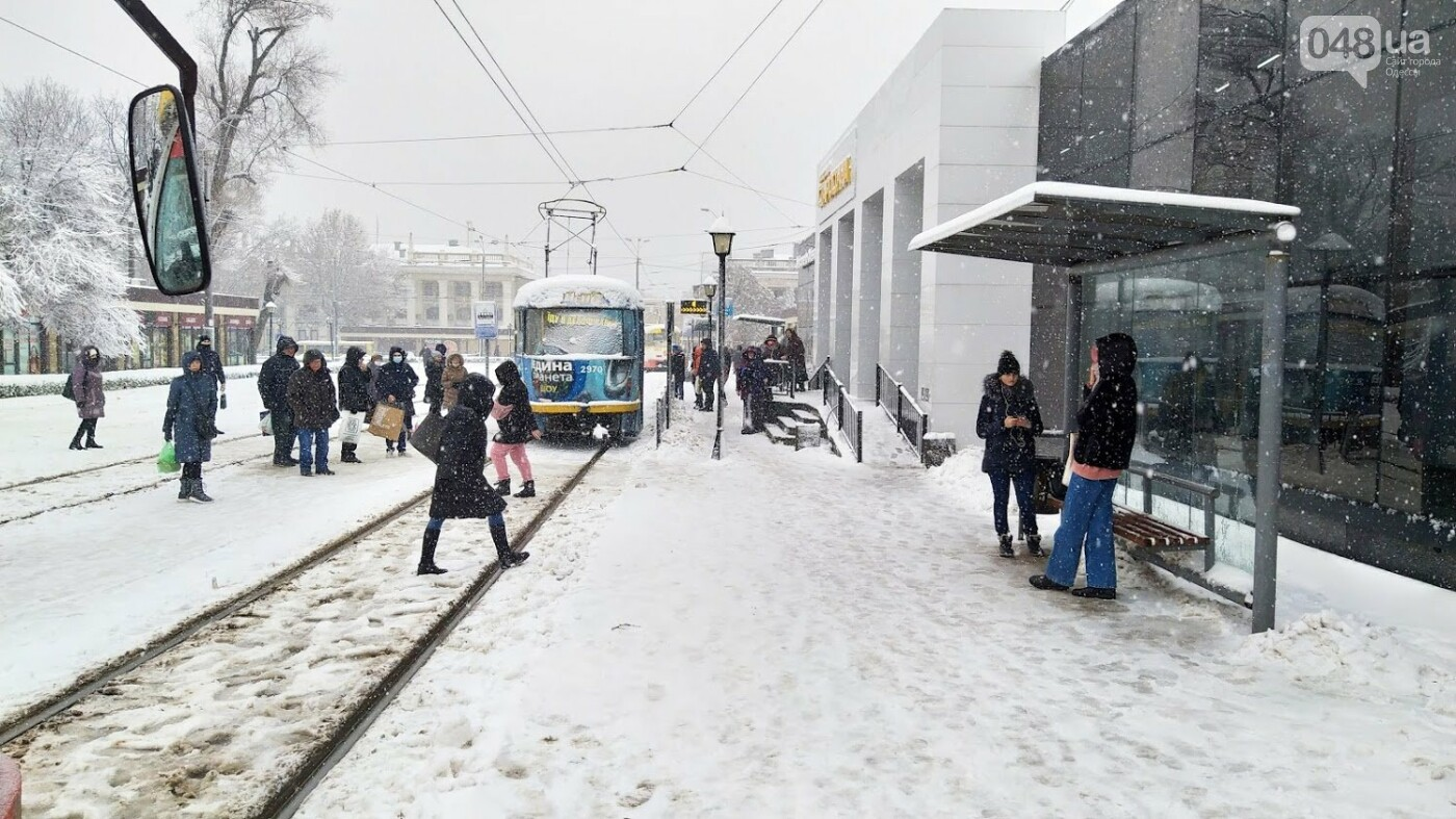 Снегопад в Одессе: как ходит общественный транспорт в городе, - ФОТО, фото-8, ФОТО: Александр Жирносенко