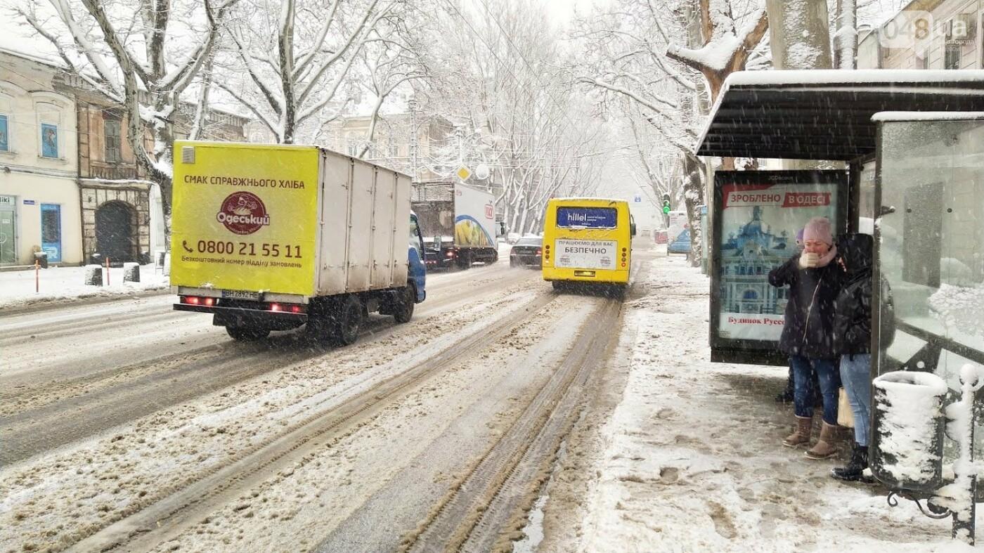 Снегопад в Одессе: как ходит общественный транспорт в городе, - ФОТО, фото-14, ФОТО: Александр Жирносенко
