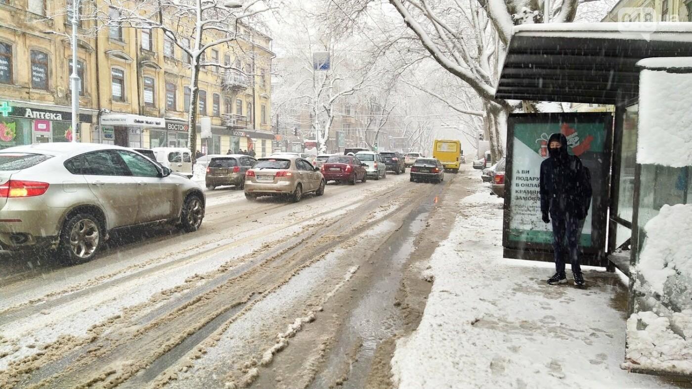 Снегопад в Одессе: как ходит общественный транспорт в городе, - ФОТО, фото-15, ФОТО: Александр Жирносенко