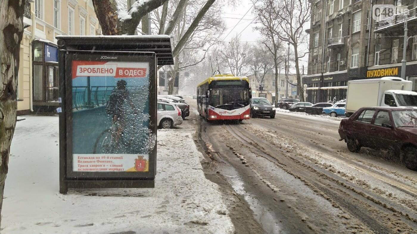 Снегопад в Одессе: как ходит общественный транспорт в городе, - ФОТО, фото-16, ФОТО: Александр Жирносенко