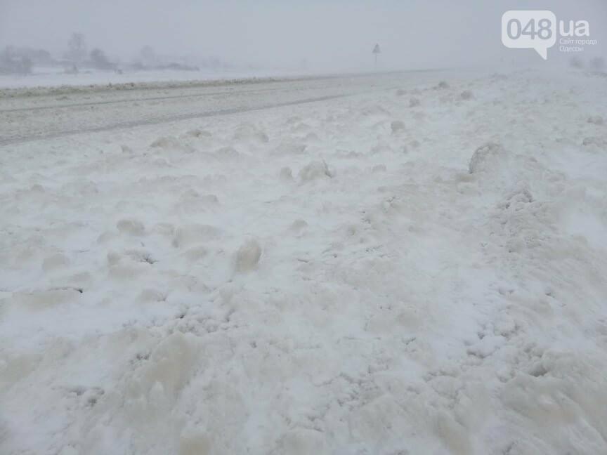 Села Одесской области заметает снегом, на трассе переметы,- ФОТОРЕПОРТАЖ, фото-17