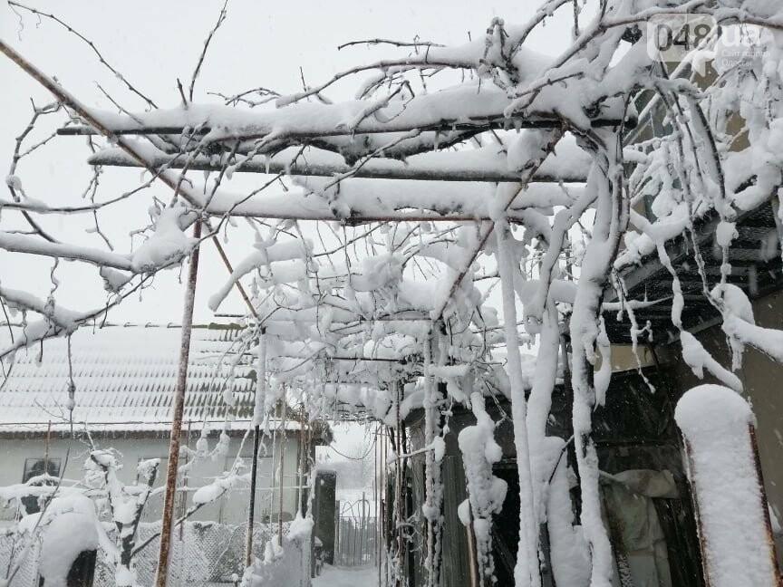 Села Одесской области заметает снегом, на трассе переметы,- ФОТОРЕПОРТАЖ, фото-6