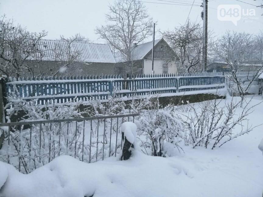 Села Одесской области заметает снегом, на трассе переметы,- ФОТОРЕПОРТАЖ, фото-2