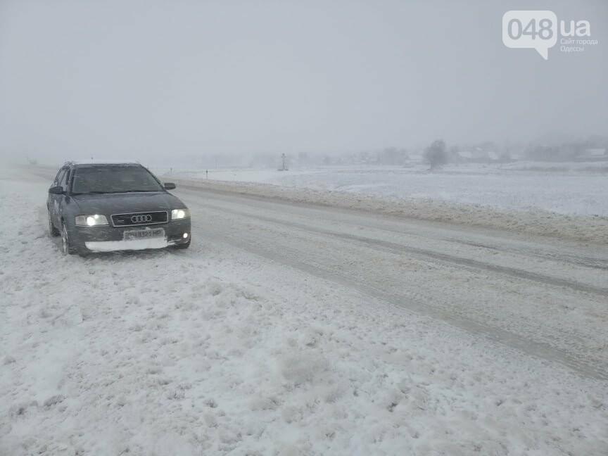 Села Одесской области заметает снегом, на трассе переметы,- ФОТОРЕПОРТАЖ, фото-14