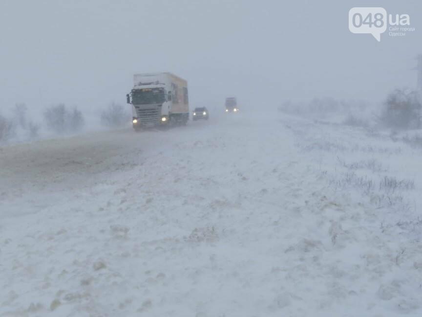 Села Одесской области заметает снегом, на трассе переметы,- ФОТОРЕПОРТАЖ, фото-13