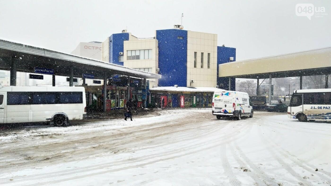 Водители автобусов массово отказываются ехать в Одессу из-за непогоды в области, фото-11, ФОТО: Александр Жирносенко.