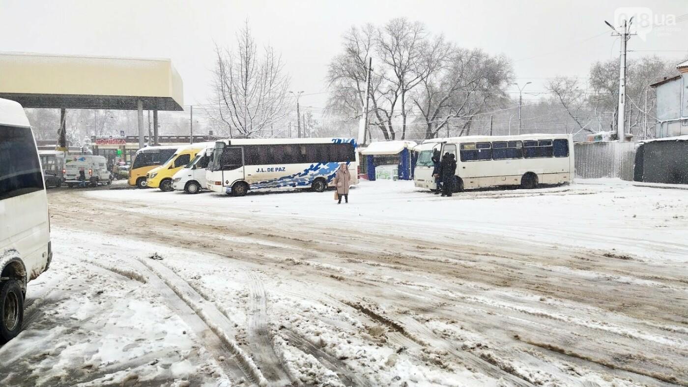 Водители автобусов массово отказываются ехать в Одессу из-за непогоды в области, фото-5, ФОТО: Александр Жирносенко.