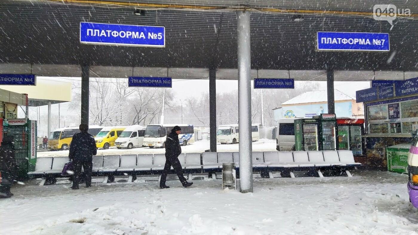Водители автобусов массово отказываются ехать в Одессу из-за непогоды в области, фото-3, ФОТО: Александр Жирносенко.