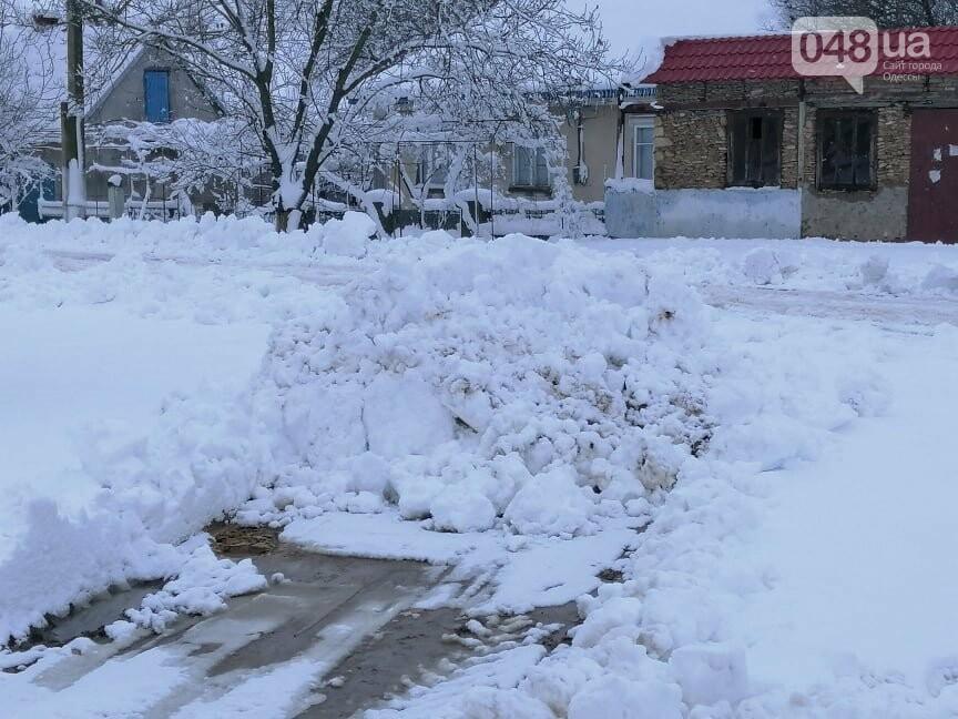 Сугробы выше крыши: жители Одесской области откапываются,-..., фото-1212