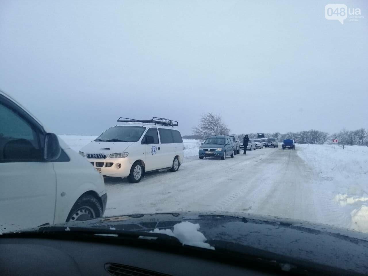 Трасса Одесса-Рени: брошенные автомобили, трактора и сугробы,- ВИДЕО, ФОТО, фото-13