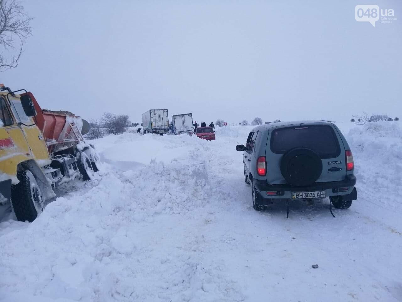 Трасса Одесса-Рени: брошенные автомобили, трактора и сугробы,- ВИДЕО, ФОТО, фото-6
