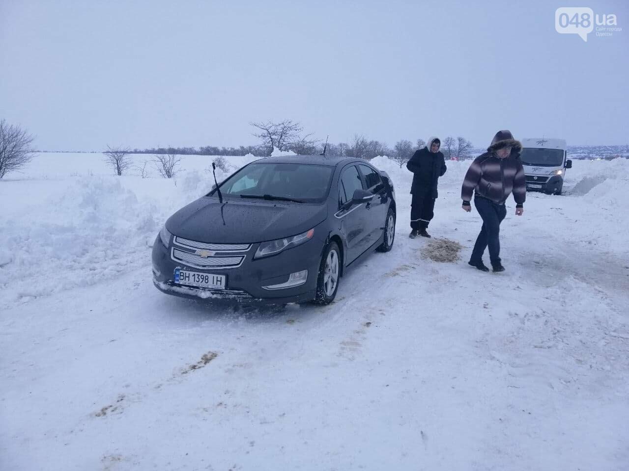 Трасса Одесса-Рени: брошенные автомобили, трактора и сугробы,- ВИДЕО, ФОТО, фото-5