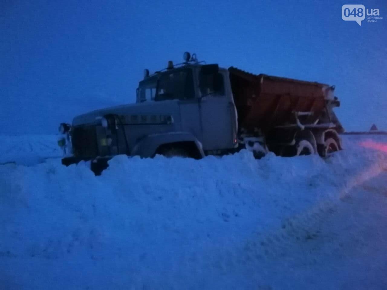 Трасса Одесса-Рени: брошенные автомобили, трактора и сугробы,- ВИДЕО, ФОТО, фото-18