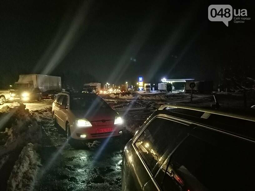 Трассу Одесса-Рени снова перекрыли, на дороге километровые пробки, - ФОТО, ВИДЕО, фото-2