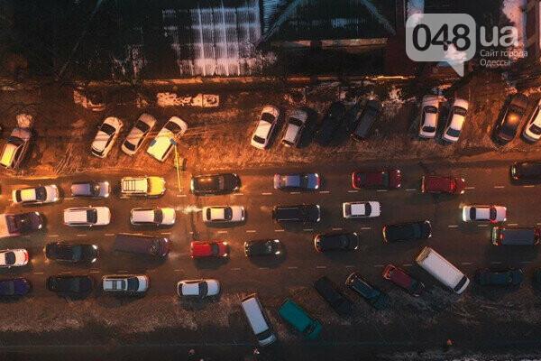 Из-за ремонта Новощепного центр Одессы сковали пробки,- ФОТО, фото-1