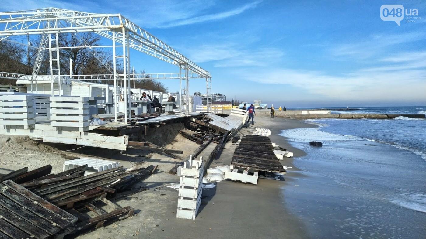 Последствия шторма на одесском побережье: как выглядят пляжи после стихии, - ФОТОРЕПОРТАЖ, фото-2