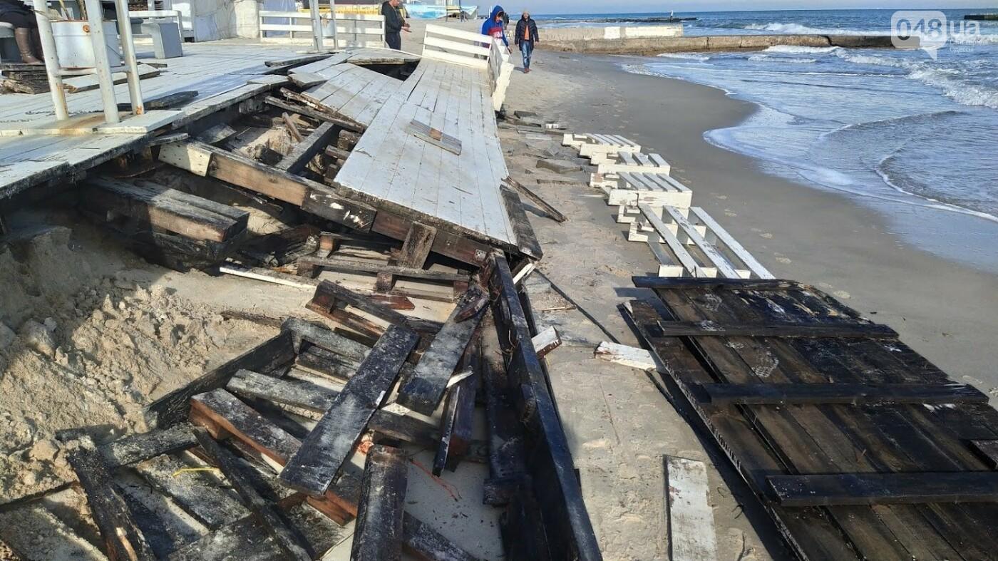Последствия шторма на одесском побережье: как выглядят пляжи после стихии, - ФОТОРЕПОРТАЖ, фото-4