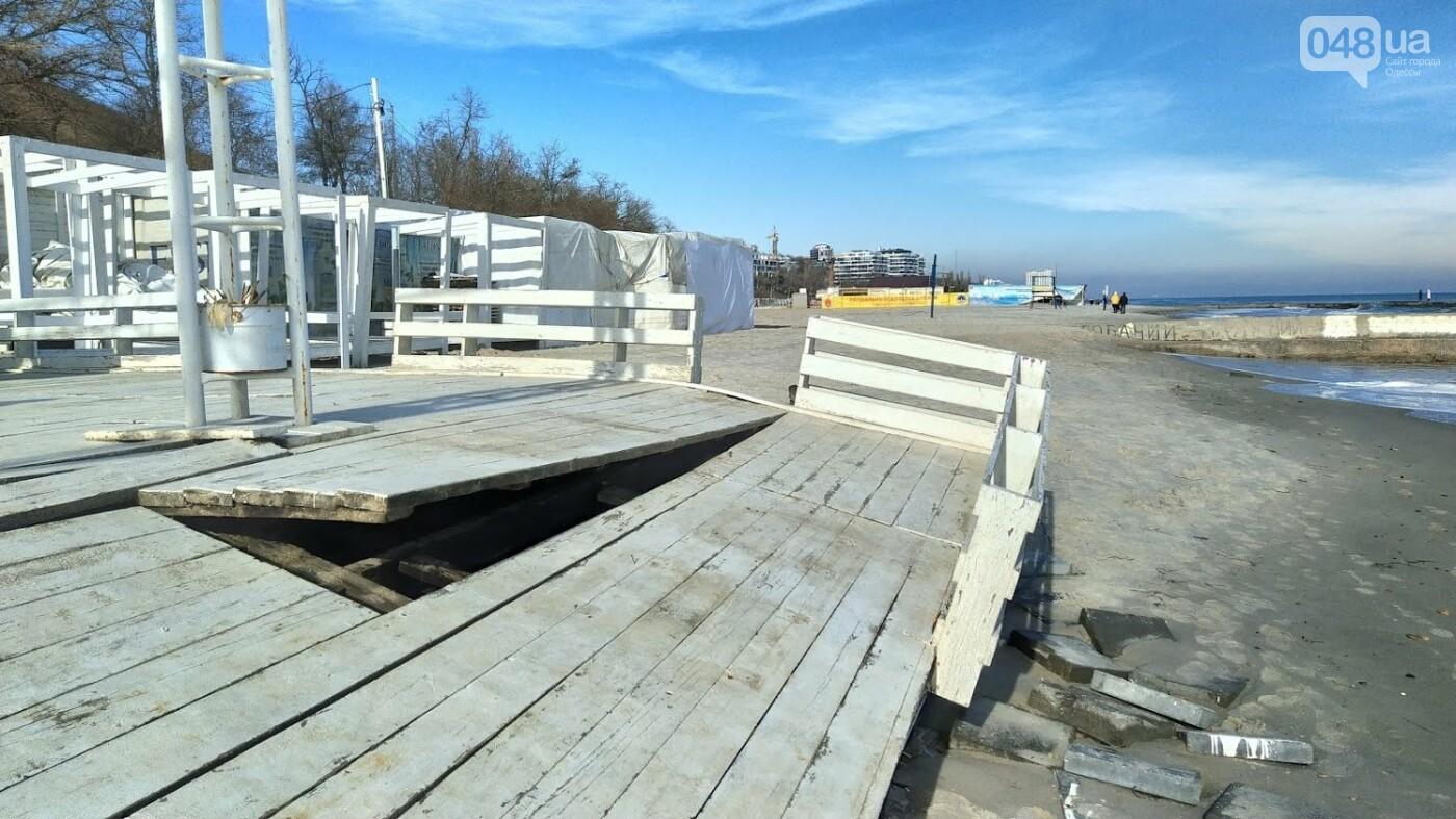 Последствия шторма на одесском побережье: как выглядят пляжи после стихии, - ФОТОРЕПОРТАЖ, фото-5